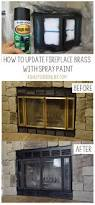 sick of looking at brass on your fireplace learn how i updated my