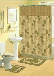 Floral Bathroom Rugs Tropical Shower Curtains Tropical Floral Bathroom Shower Curtain