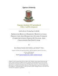 demande de mat iel de bureau improving kenya s domestic horticultural pdf available
