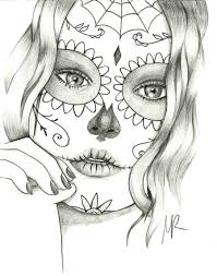 sugar skull coloring pages free 95818 printable coloring pictures