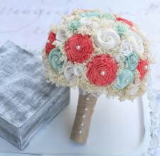 bridal flowers wedding bouquet mint coral bridal bouquet mint green