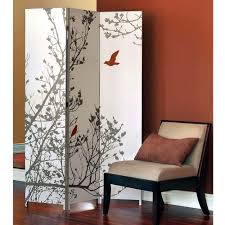 home decorators collection 5 83 ft cherry 3 panel room divider