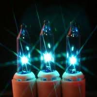 teal mini lights
