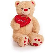 valentines bears jumbo 48 teddy with i you heart walmart