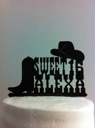 sweet 16 rustic country u0026 western font hat and boot custom first