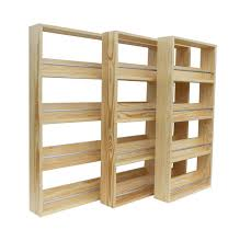 Kitchen Cabinet Spice Racks Amazon Com Silverapplewood Wooden Spice Rack Solid Pine Holds Up