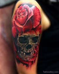 skull and on half sleeve designs pictures