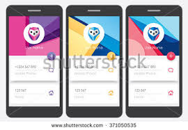Material Design Ideas Material Design Style Kit Mobile Applications Stock Vector