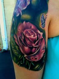 11 best purple realistic rose tattoo images on pinterest tattoo