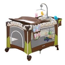 Changing Table Crib Portable Baby Crib Multi Functional Folding Baby Bed With Diapers