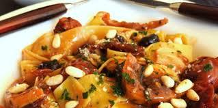 cuisine andalouse parpadelles à l andalouse recette sur cuisine actuelle