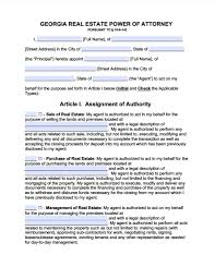 Free Power Of Attorney Form California by Georgia Real Estate Only Power Of Attorney Form Power Of