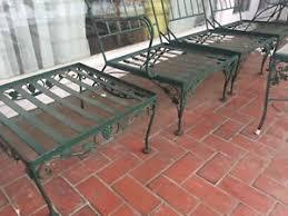 wrought iron patio ottoman salterini wrought iron patio furniture ottoman ebay