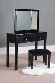 Glass Vanity Table With Mirror Great 4 Leg Black Glass Dressing Table With Accent