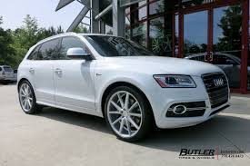 audi q5 rims and tires audi q5 with 22in vossen vfs1 wheels exclusively from butler tires