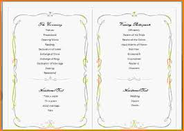 wedding programs template free 10 wedding program template word letterhead template sle