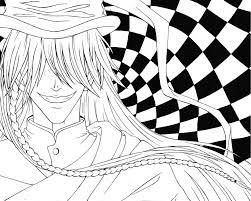 undertaker coloring pages undertaker kuroshitsuji lines by avrildc on deviantart