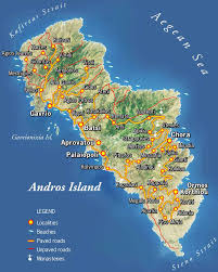 Kos Greece Map by Andros Map Andros Ferries Travel Information