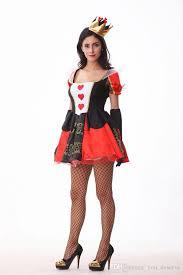 Teen Witch Halloween Costume 2017 Queen Hearts Dress Cosplay Halloween Costumes