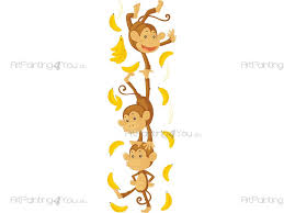 stickers jungle chambre bébé stickers muraux chambre bébé singes jungle artpainting4you eu