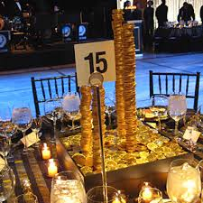 Gold Table Centerpieces by Some Of The Tables U0027 Centerpieces Featured Precarious Stacks Of
