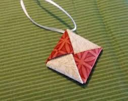fabric origami ornaments lovetoknow