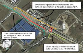 Austin Bergstrom Airport Map by Tuesday Night Sh 71 Closures Near Austin Airport To Cause Traffic