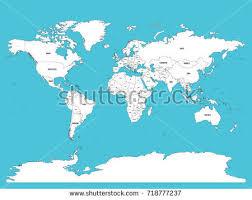 map world seas political map world white lands blue stock vector 718777237