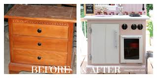Play Kitchen From Old Furniture by Bliss Ranch Pink Play Kitchen Transformation Details