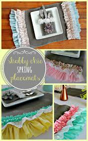 Shabby Chic Placemats by Shabby Chic Spring Placemats Oh My Creative