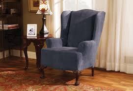 Sure Fit Club Chair Slipcovers Sure Fit Stretch Royal Diamond Wing Chair