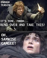 Frodo Meme - vh sam and frodo bend over