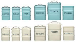 kitchen craft living nostalgia coffee sugar tea biscuit flour