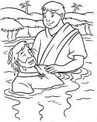 baptism jesus coloring moses holding 10 commandments