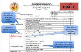 report card format template la unified plans a common makeover for its elementary school