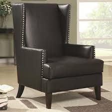 Nailhead Accent Chair Wing Back Accent Chair In Transitional Furniture Style With Nail