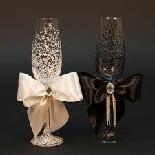 wedding glasses wedding glasses personalized chagne glasses black white