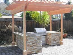 exterior beautiful outdoor kitchen barbeque ideas using white