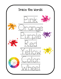 coloring pages learning colors printable learning colors