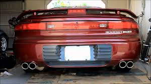 dodge stealth jdm mitsubishi 3000gt old vs new exhaust youtube