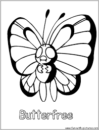 pokemon coloring pages butterfree coloring page
