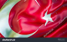 Turkey National Flag Turkey Flag 3d Waving Flag Design Stock Illustration 631604009