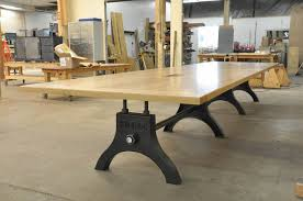 Oak Meeting Table Hure Conference Table Vintage Industrial Furniture