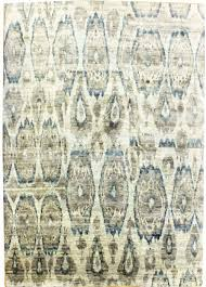 Blue And Grey Area Rug Flooring Cool And Chic Ikat Rug Design For Your Living Space