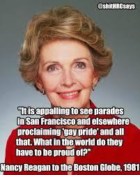 Anti Gay Meme - eric kleefeld on twitter have you seen this nancy reagan anti gay