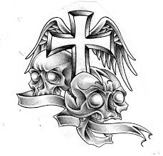 cross and skulls by mr g o n e on deviantart