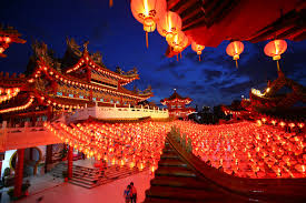 chinese new year celebration hanging lanterns decoration