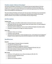 It Business Analyst Job Description Resume by Sample Software Developer Resume 9 Examples In Word Pdf