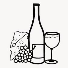 wine bottle coloring pages eson me