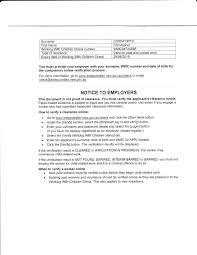 Working With Children Resume Work With Children Certificate